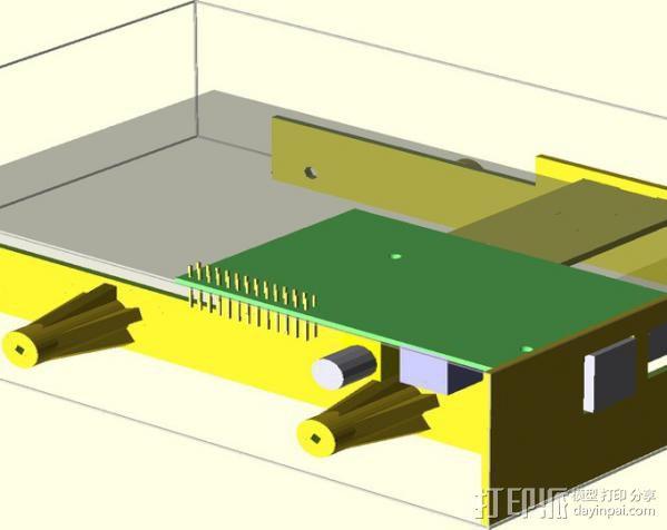 Raspberry Pi 树莓派电路板保护盒 3D模型  图2