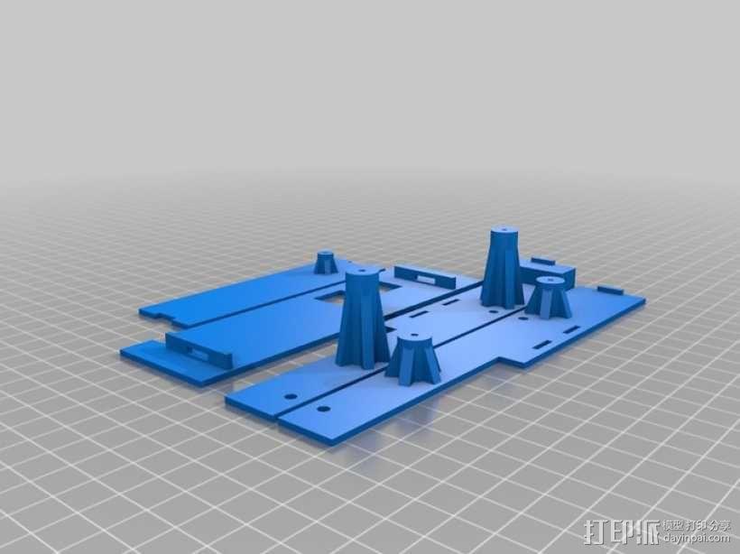 Raspberry Pi 树莓派电路板保护盒 3D模型  图3