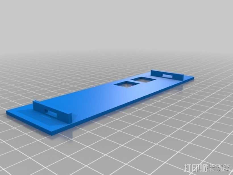 Raspberry Pi 树莓派电路板保护盒 3D模型  图6