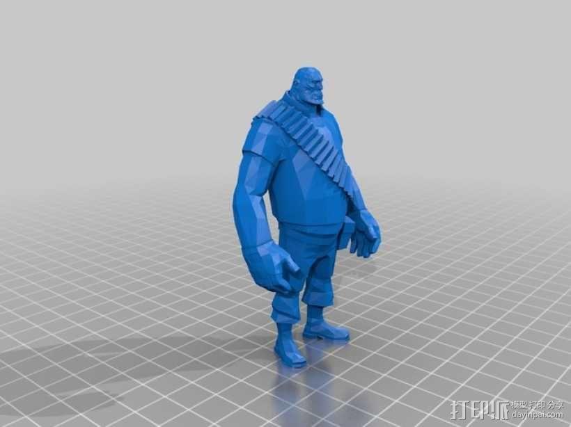 边防要塞  Heavy胖子 人物模型 3D模型  图1