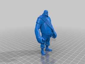 边防要塞  Heavy胖子 人物模型 3D模型