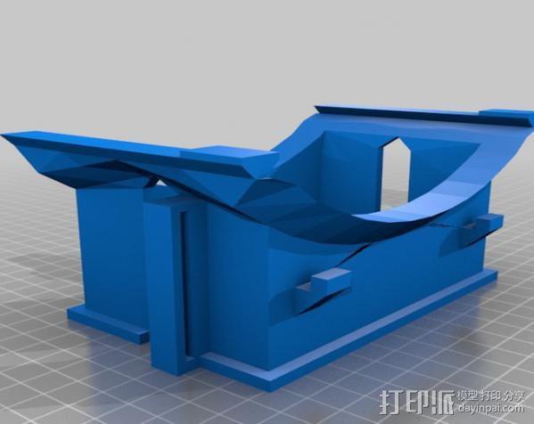 虚拟现实眼镜 谷歌纸盒  3D模型  图5