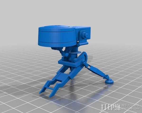边防要塞2 重炮口径三角自动步枪 3D模型  图2