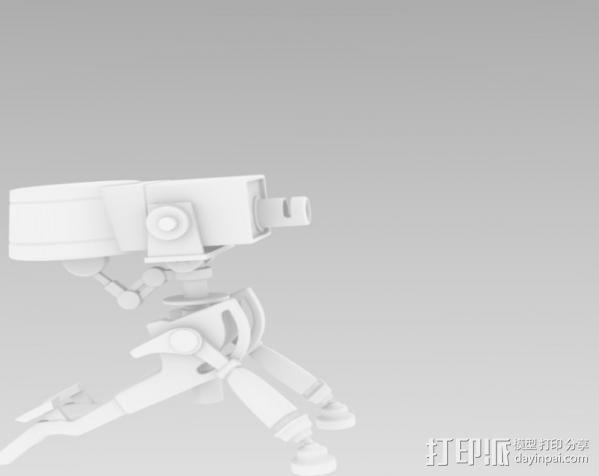 边防要塞2 重炮口径三角自动步枪 3D模型  图3