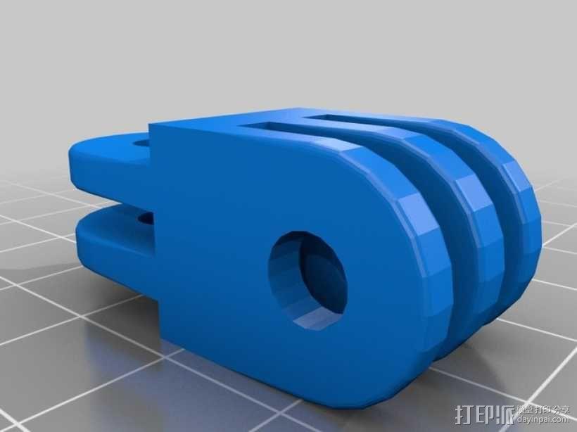 Go Pro 相机支架连接器 3D模型  图1