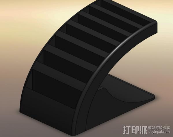 游戏卡收纳盒 3D模型  图2