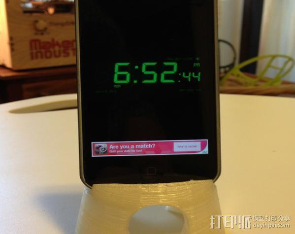 锥形iPhone手机支架 3D模型  图5