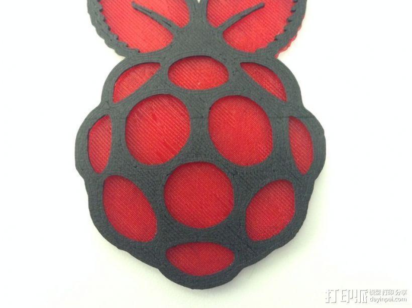 Raspberry Pi 树莓派标志 3D模型  图1