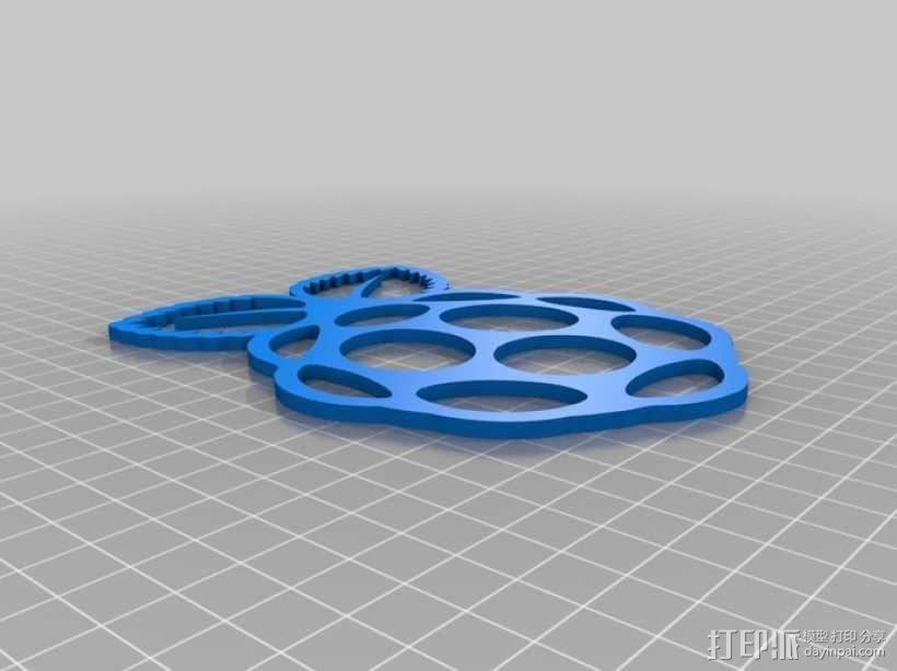Raspberry Pi 树莓派标志 3D模型  图4