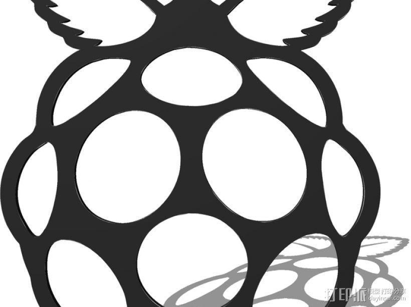 Raspberry Pi 树莓派标志 3D模型  图3