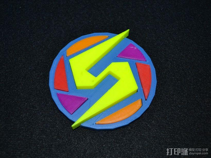Super Metroid 超级银河战士标志 3D模型  图1