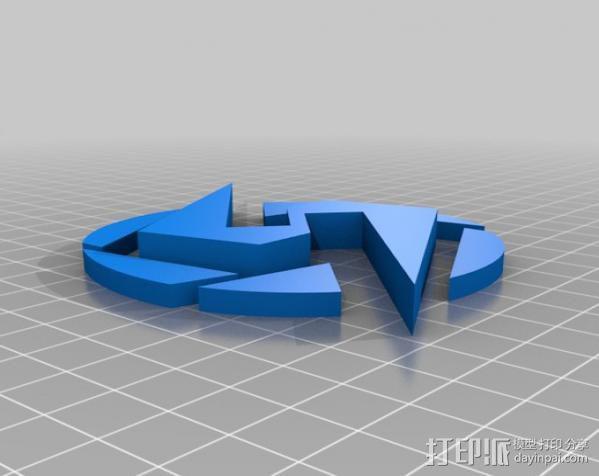 Super Metroid 超级银河战士标志 3D模型  图4