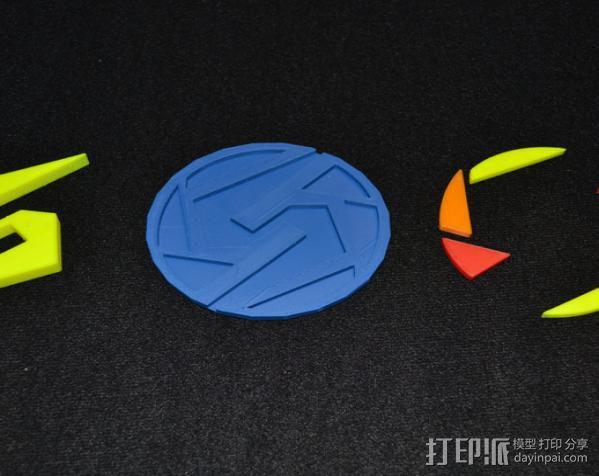 Super Metroid 超级银河战士标志 3D模型  图9