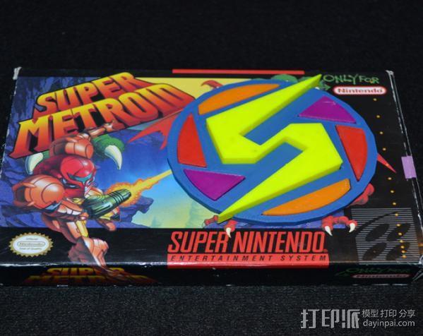 Super Metroid 超级银河战士标志 3D模型  图10