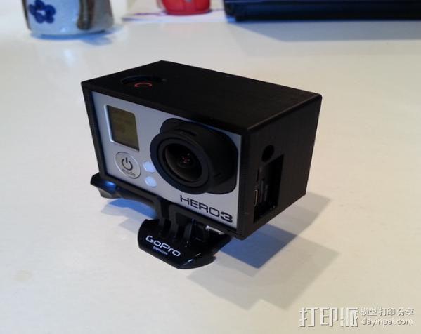 GoPro Hero 3相机保护框 3D模型  图3