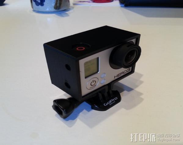 GoPro Hero 3相机保护框 3D模型  图4