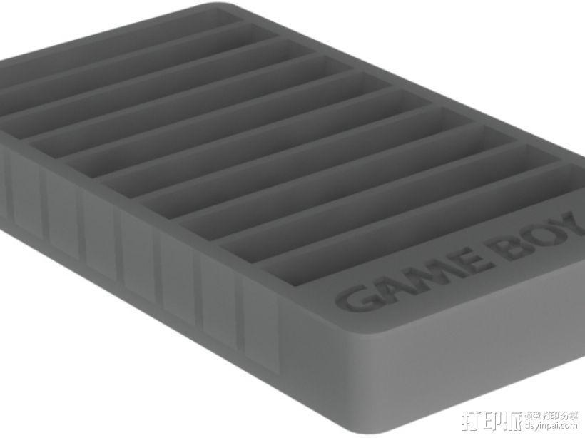 Game Boy游戏卡 收纳盒 3D模型  图4