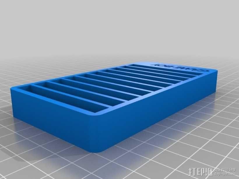 Game Boy游戏卡 收纳盒 3D模型  图5
