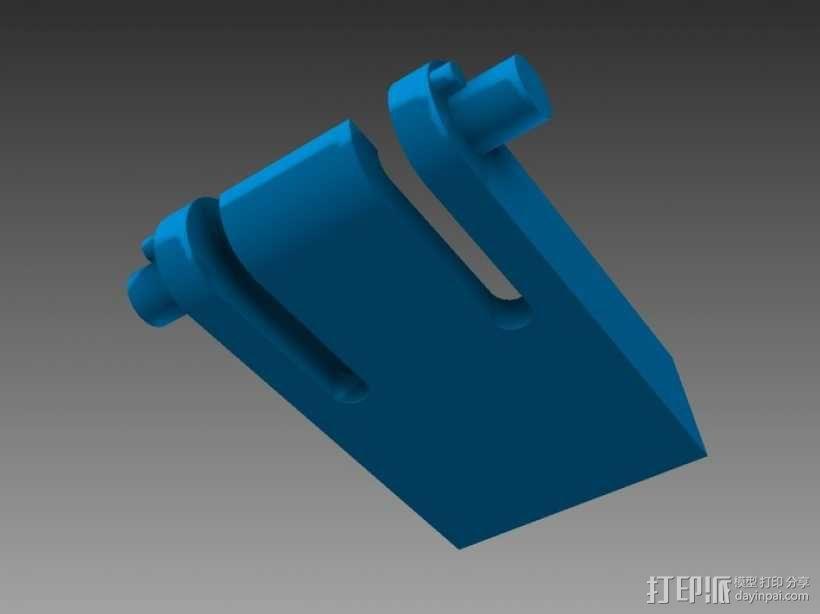 键盘支撑器 支撑脚 3D模型  图1