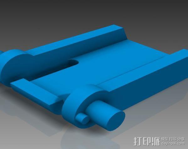 键盘支撑器 支撑脚 3D模型  图3