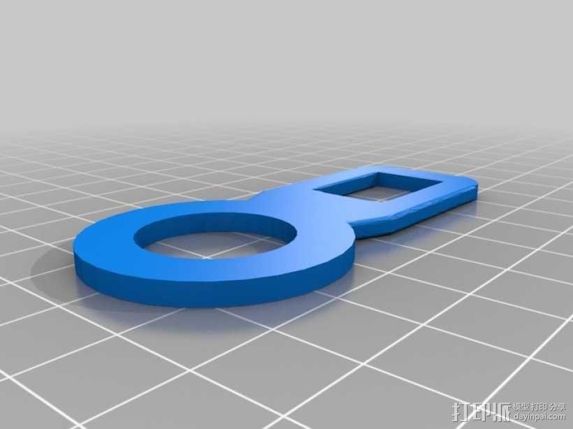 安全带扣 包袋扣  3D模型  图2