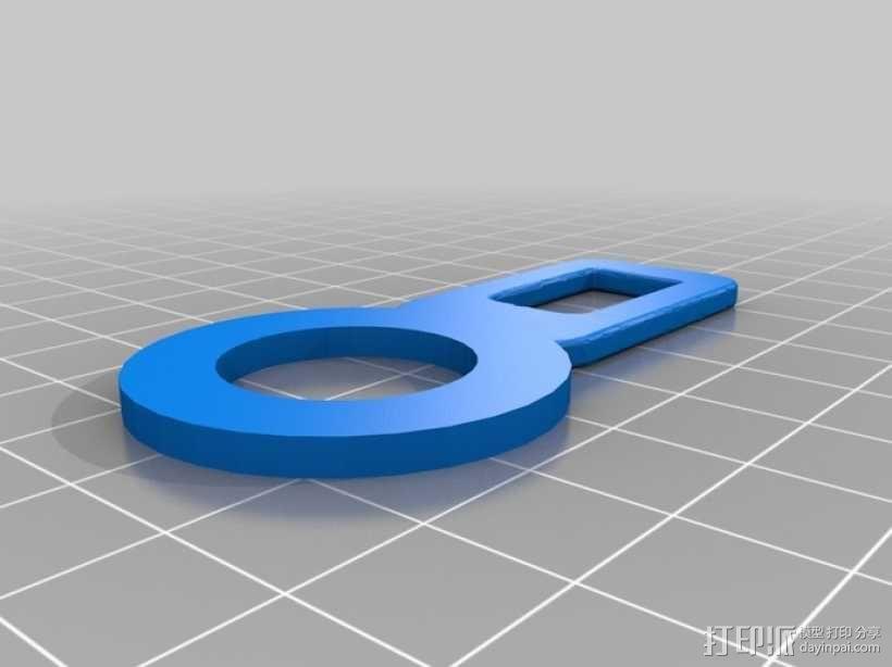 安全带扣 包袋扣  3D模型  图4