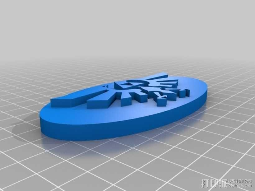 塞尔达传说标志 3D模型  图1