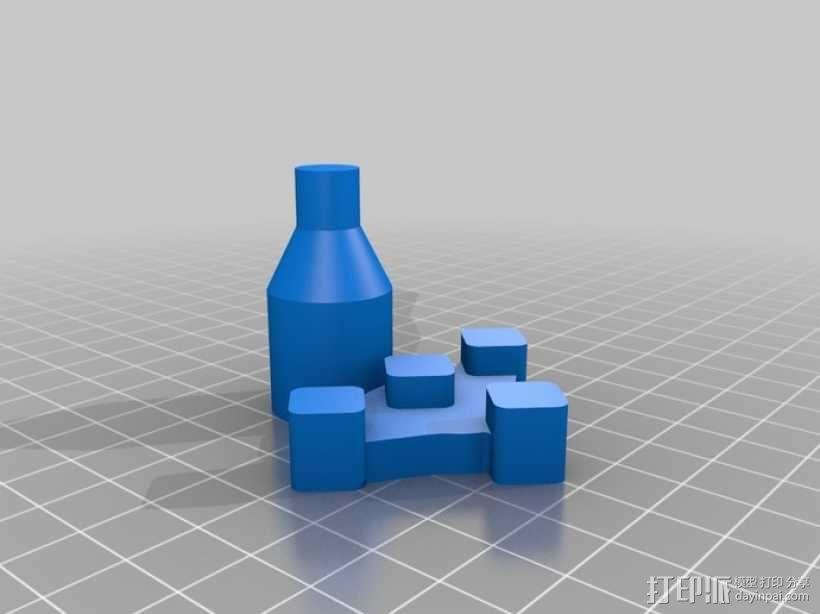 控制杆 3D模型  图1