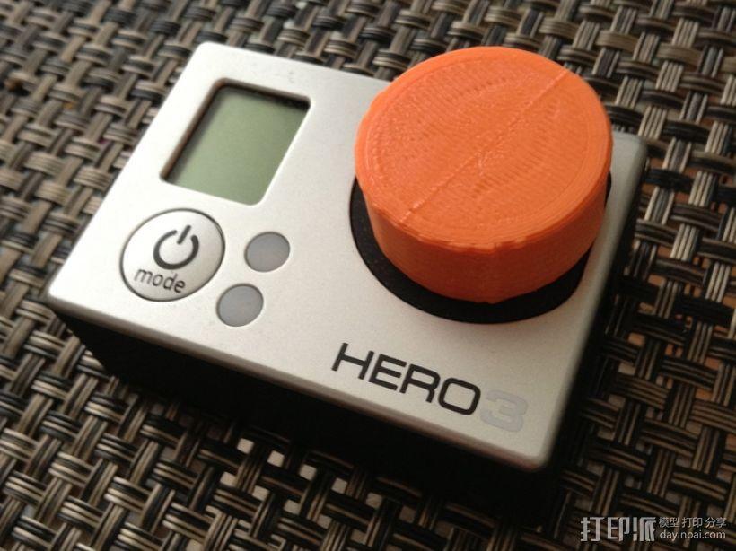 GoPro 3相机镜头盖 3D模型  图1