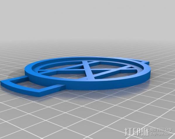 相机镜头盖盖扣 3D模型  图2