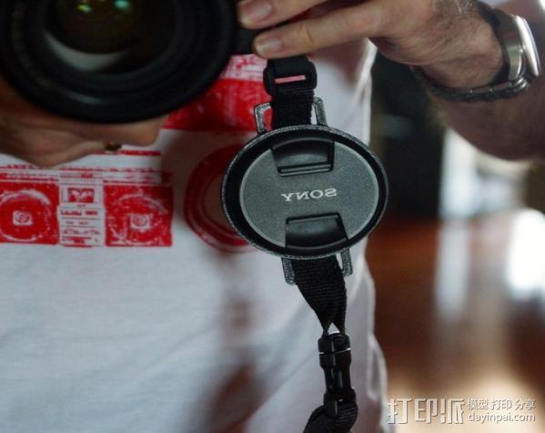 相机镜头盖盖扣 3D模型  图4