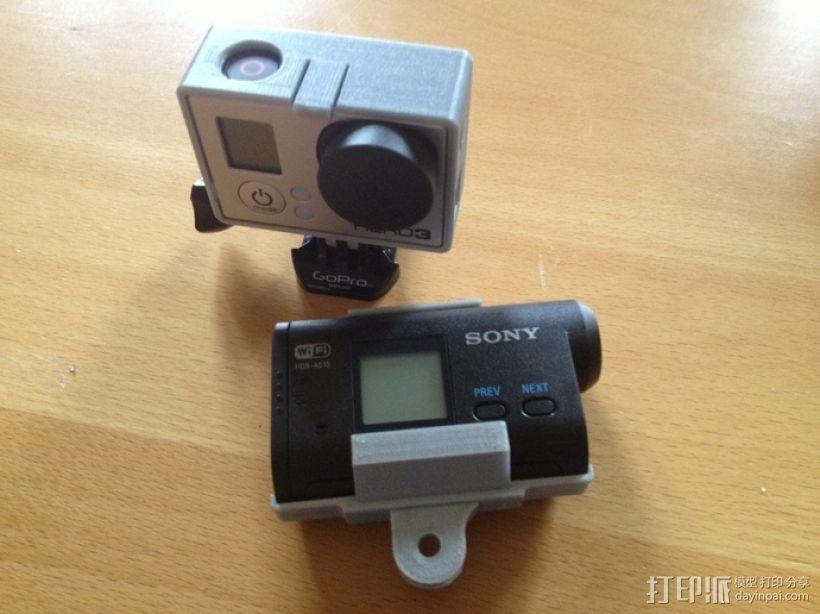 索尼运动相机支架 3D模型  图1