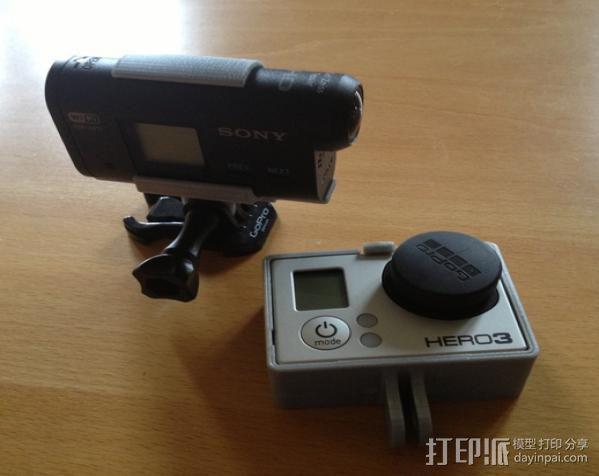 索尼运动相机支架 3D模型  图2