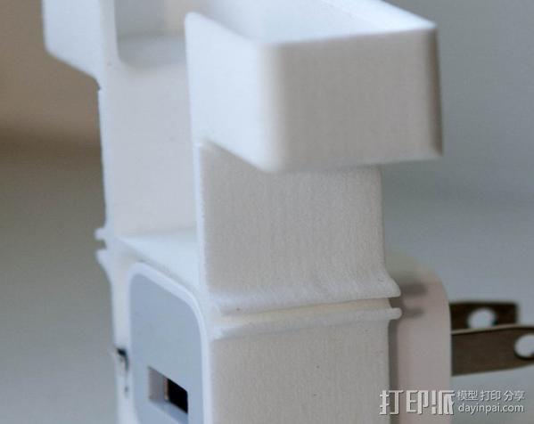 壁挂式手机充电座 3D模型  图2