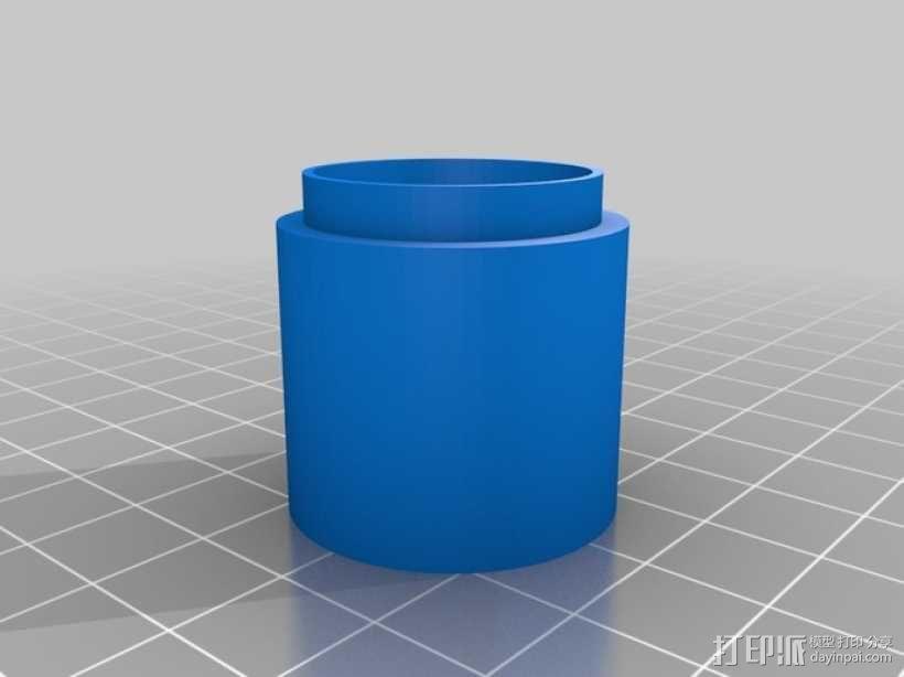 相机镜头延伸管 3D模型  图1