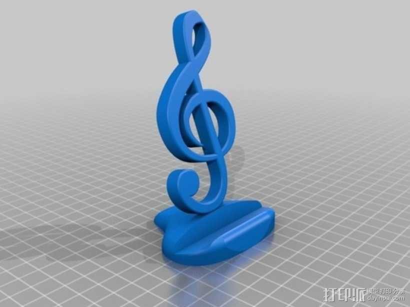 音符手机支架 3D模型  图1