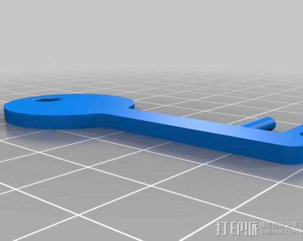 钥匙形状 手机支架 3D模型  图4