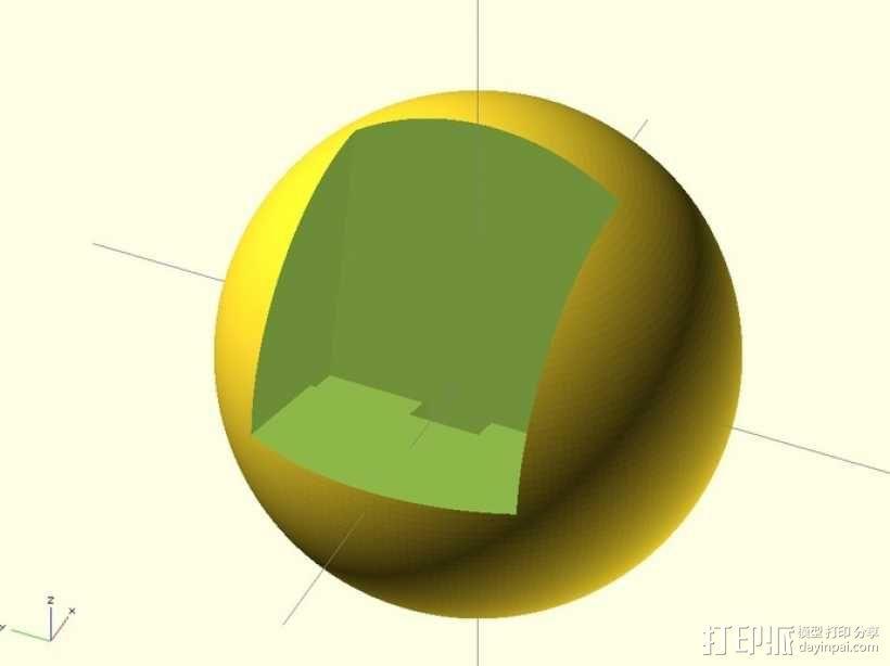 三星Galaxy S3几何球形手机支架 3D模型  图1