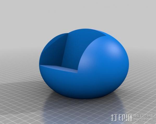 三星Galaxy S3几何球形手机支架 3D模型  图2