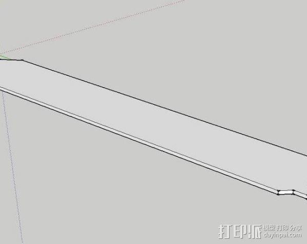 电脑主机磁盘盖 3D模型  图3