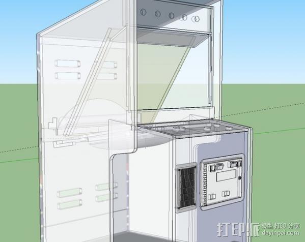 太空入侵游戏机 3D模型  图3