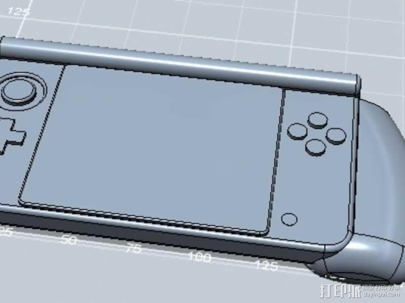 任天堂游戏机手柄 3D模型  图1