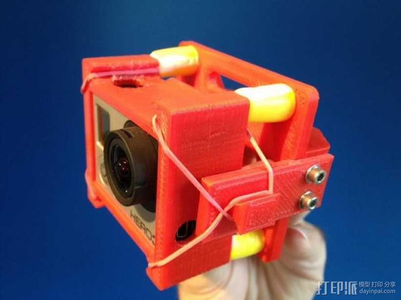 GoPro Hero 3相机框 相机架 3D模型  图1