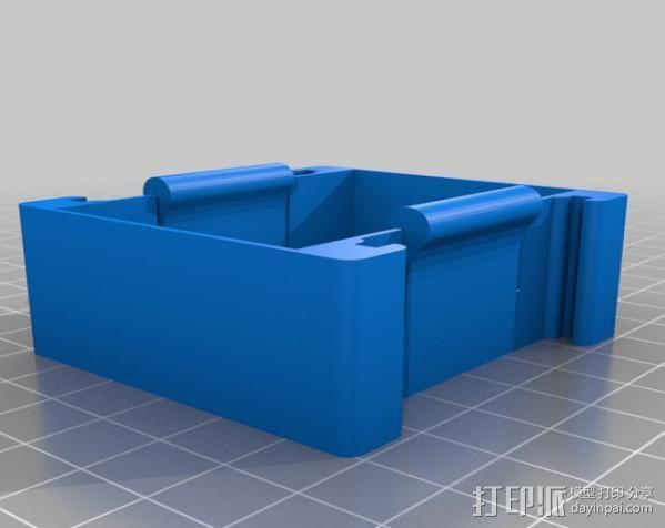 GoPro Hero 3相机框 相机架 3D模型  图2