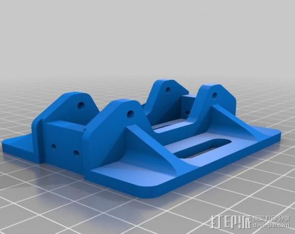 GoPro Hero 3相机框 相机架 3D模型  图3