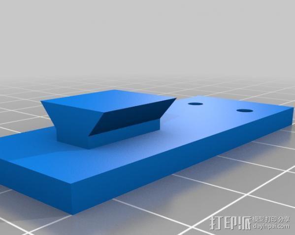 GoPro Hero 3相机框 相机架 3D模型  图4
