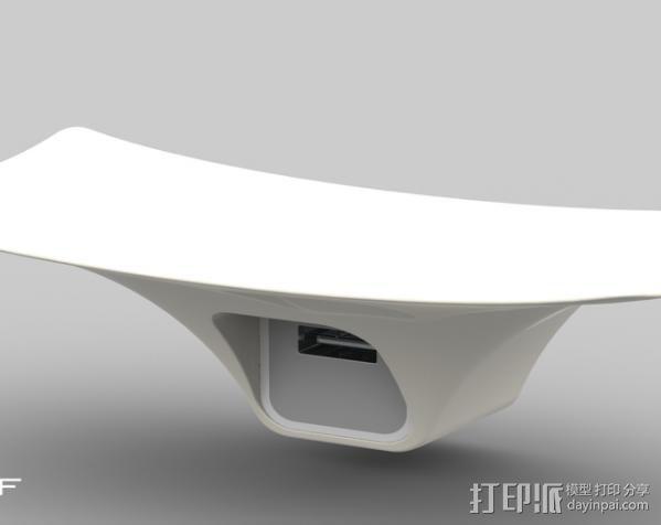 摇篮形手机支架 3D模型  图1