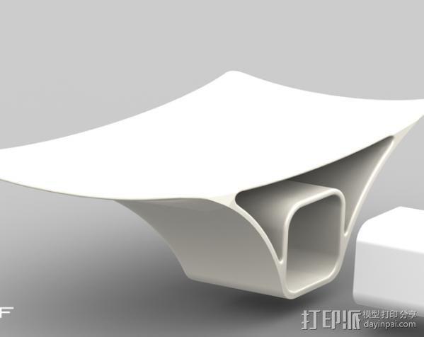 摇篮形手机支架 3D模型  图4
