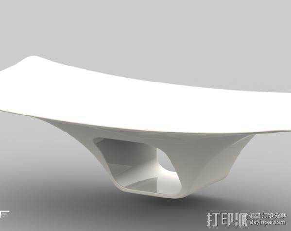 摇篮形手机支架 3D模型  图3
