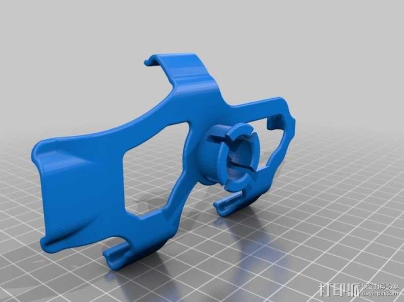 车载式HTC 8X手机支架 3D模型  图2